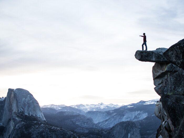 motivational maps, srác a sziklán Yosemite park