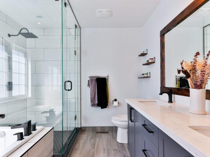 vízálló laminált padló és fürdőszoba